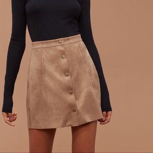 Aritzia   Wilfred Free   Centinela Skirt Camel